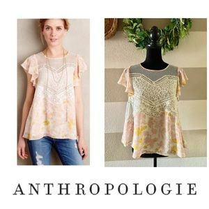 Anthropologie HD in Paris fluttered Flores top 2